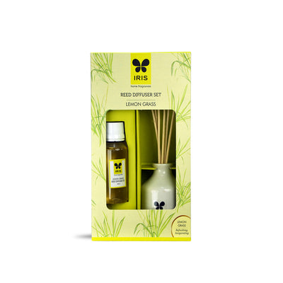 Iris Reed Diffuser Lemon Grass( Green)