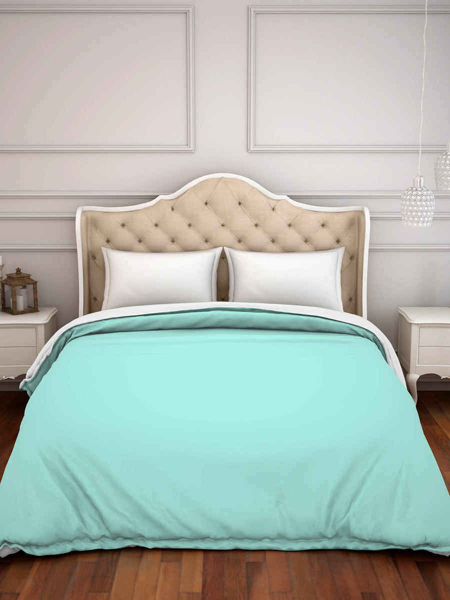 Spaces Hygro 300 TC Cotton Double Duvet Cover (Blue)