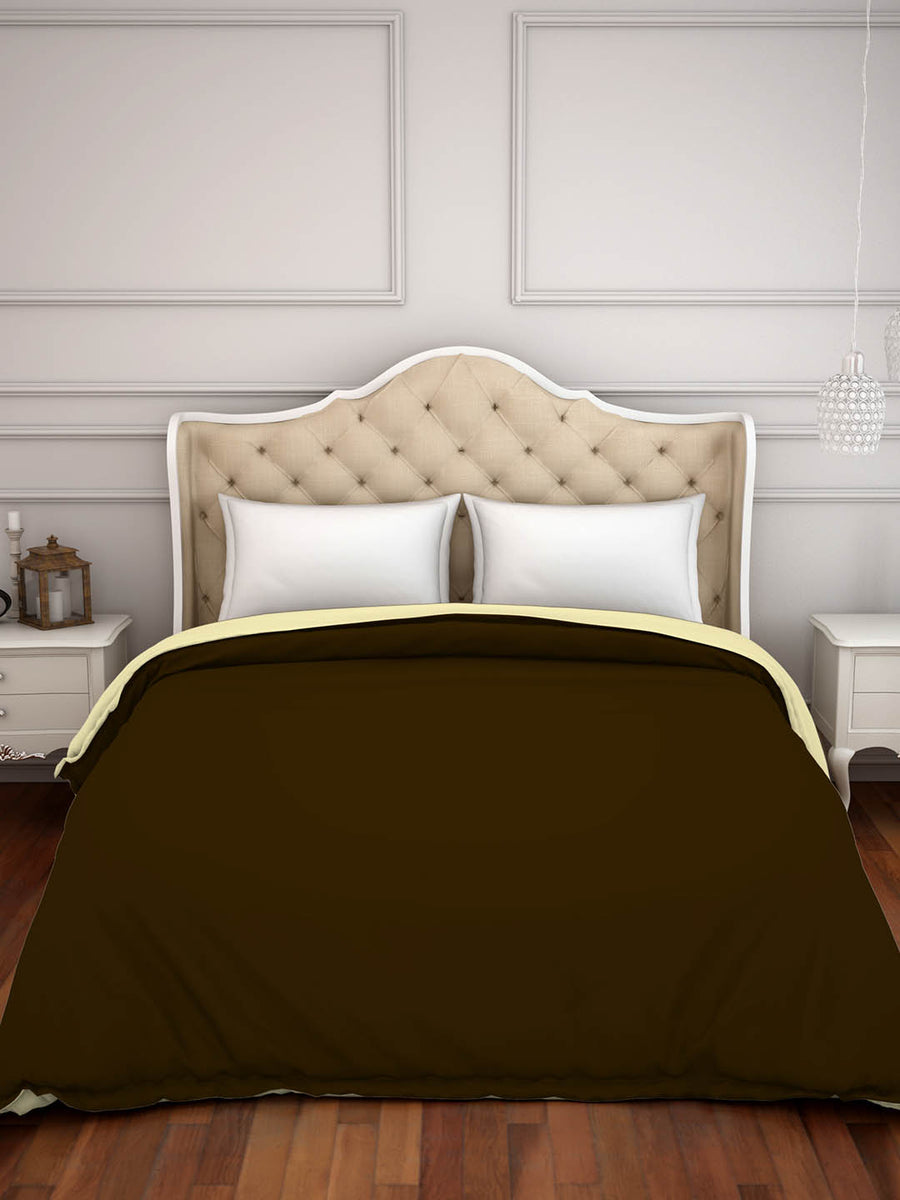 Spaces Hygro 300 TC Cotton Double Duvet Cover (Brown)