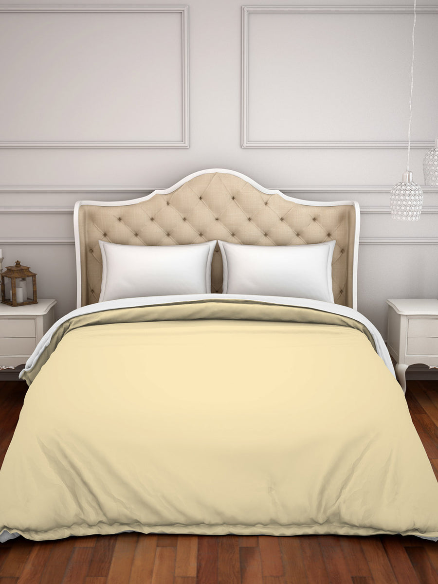 Spaces Hygro 300 TC Cotton Double Duvet Cover (Beige)