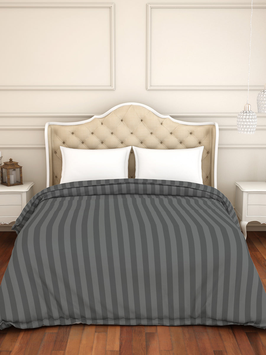 Spaces Skyrise 210 TC Cotton Double  Duvet Cover (Grey)