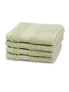 Spaces Organic 4 Pieces Face Towels (Green)