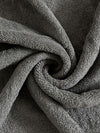Spaces Colorfas 448 GSM Solid Large Bath Towel (Grey)