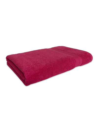 Spaces Colorfas 448 GSM Solid Large Bath Towel (Pink)
