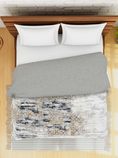 Spaces Lumeni Abstract Double Quilt (Grey)
