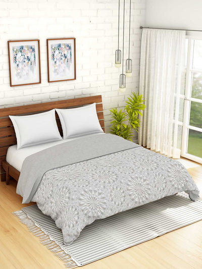 Spaces Translucency Geometric Double Quilt (Grey)