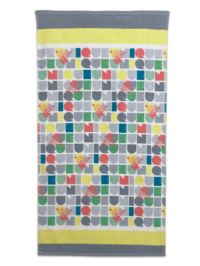 Spaces Kids 380 GSM Minions Large Bath Towel (Yellow)