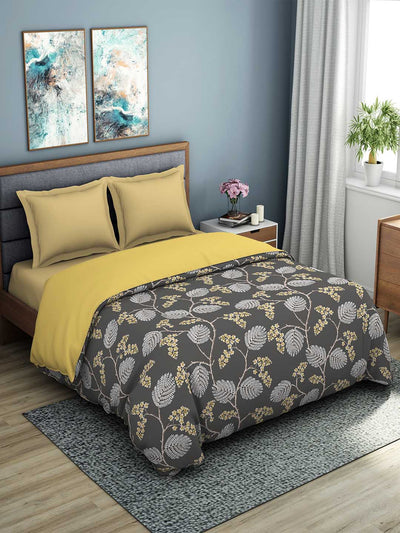 Spaces Esential 144 TC 100% Cotton Double Bed Quilt (Brown)
