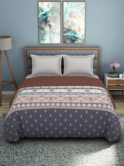 Spaces Esential 144 TC 100% Cotton Double Bed Quilt (Maroon)
