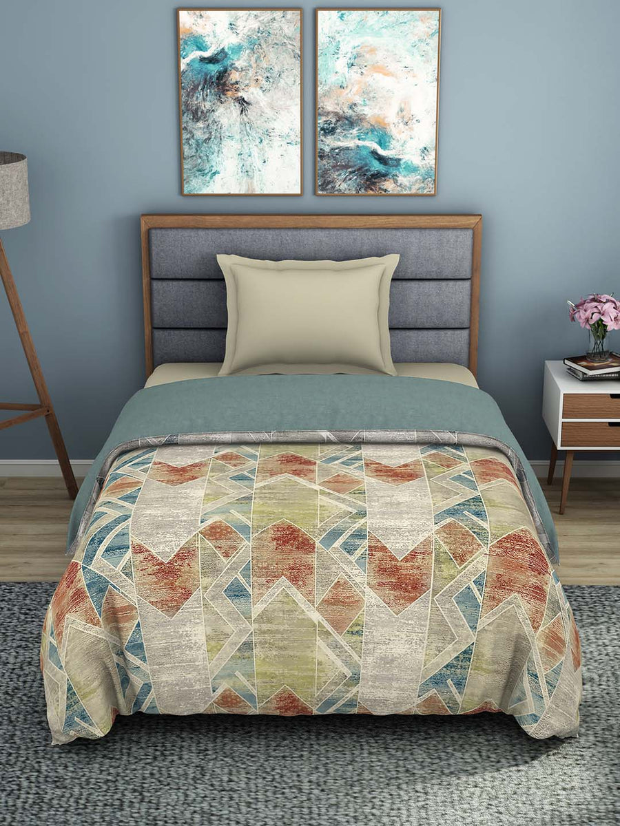 Spaces Bonica 180 TC 100% Organic Cotton Shell Single Quilt (Grey)