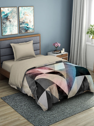 Spaces Bonica 180 TC 100% Organic Cotton Shell Single Quilt (Brown)