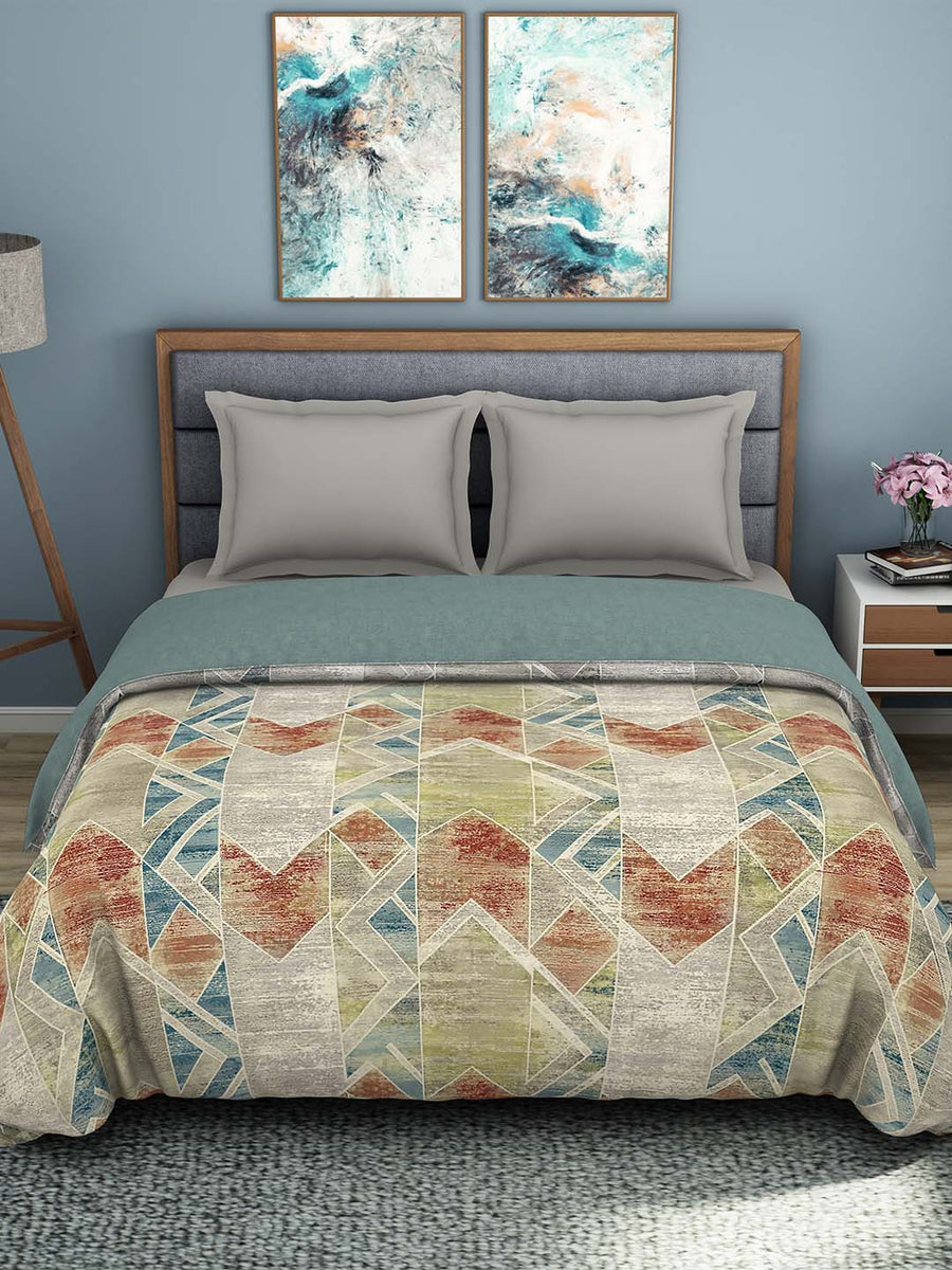Spaces 180 TC 100% Organic Cotton Double Bed Quilt (Grey)