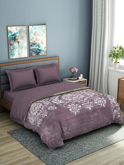 Spaces 180 TC 100% Organic Cotton Double Bed Quilt (Purple)