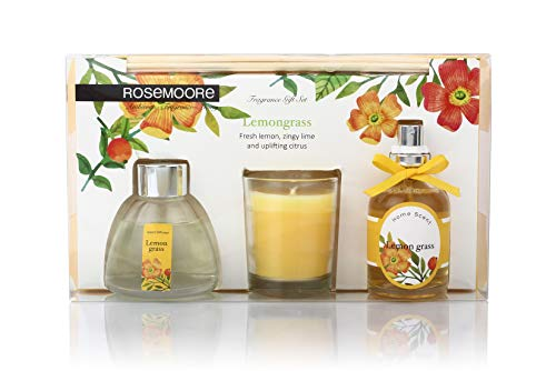 Rosemoore Lemongrass Scented Fragrance Set (Multicolor)