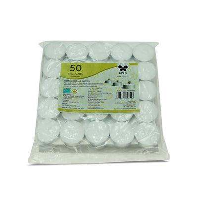 Iris 50Pk 10Gm Tealight Candle( White)