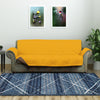 3 Seater Reversible Sofa Cover 179 cm x 279 cm (Mustard & Brown)