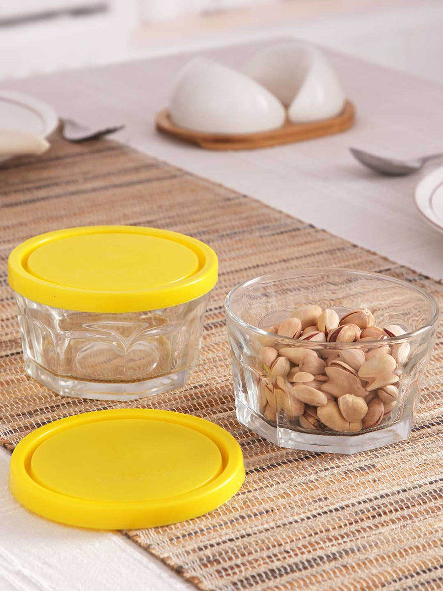 Roxx Fruit & Nuts Storage Set of 3 (White, Red, Yellow)