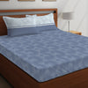 Boutique Living 104 TC Printed Layers Double Bedsheet Printed With 2 Pillow Covers
