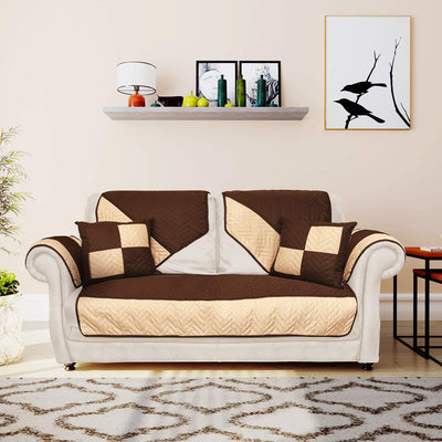 @home by Nilkamal Reversible 2 Seater Sofa Cover with 2 Cushion Covers