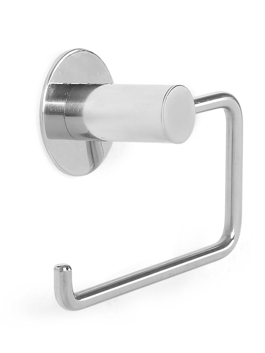 J Type Wall Toilet Paper Holder (Silver)