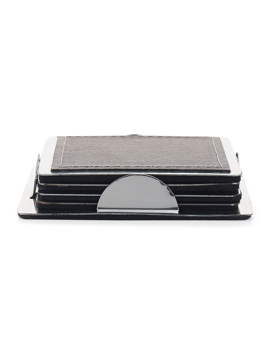 Square Coaster 4 Pieces (Silver)