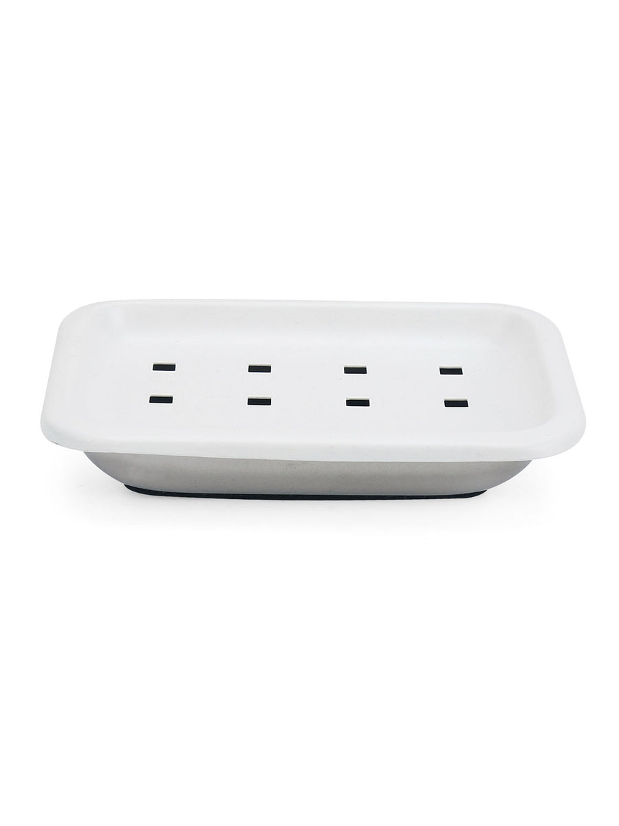 Rectangular Soap Dish (White)