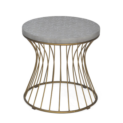 Alberto Side Table (Black & Grey)
