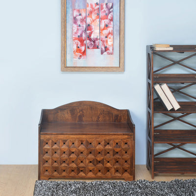 Almas Bench With storage (Walnut)