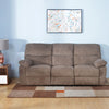 Amy 3 Seater Manual Recliner (Brown)