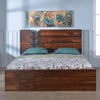 Ankara King Bed With Hydraulic Storage (Walnut)