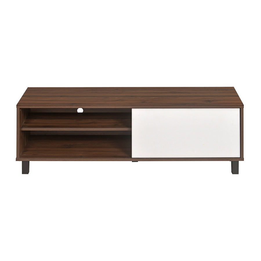 Astero Low Height Wall Unit (Walnut with White)