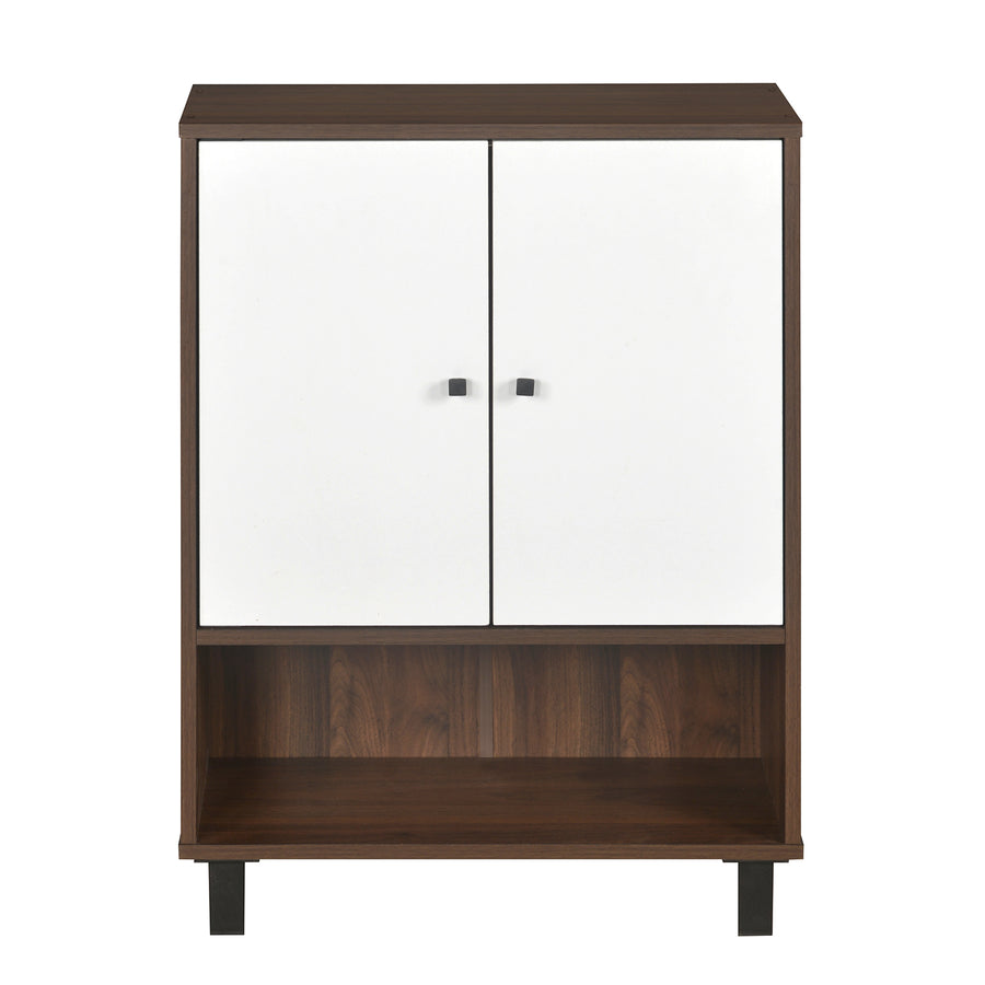 Astero Shoe Cabinet (Walnut with White)