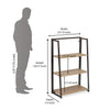 Astrid 3 Tier Bookshelf (Light Oak)