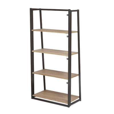Astrid 4 Tier Bookshelf (Light Oak)