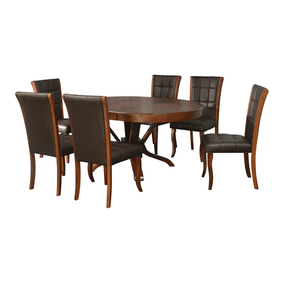 Avante 6 Seating Dining Set (Antique Oak)