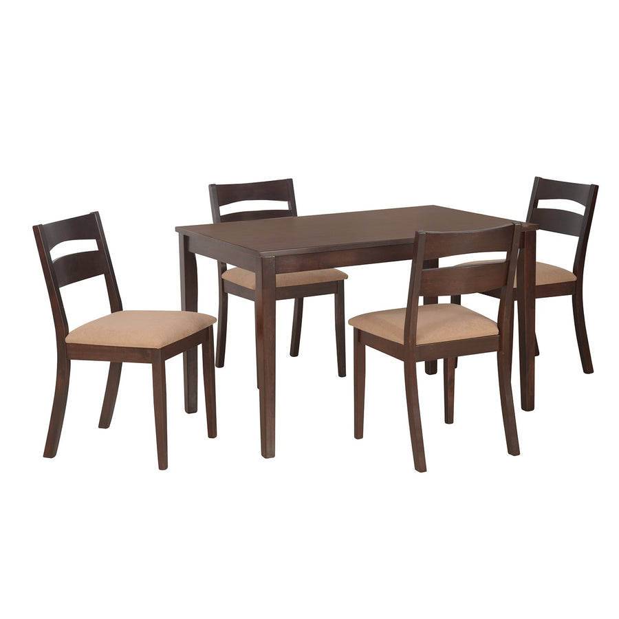 Bahamas 4 Seater Dining Table Set (Expresso)