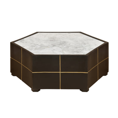 Barro Marble Top Center Table (Walnut)