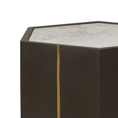 Barro Marble Top Side Table (Walnut)