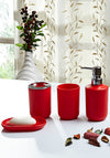 Obsessions Bathroom Set Bathroom Set Element 4Pcs Na 80501 Red