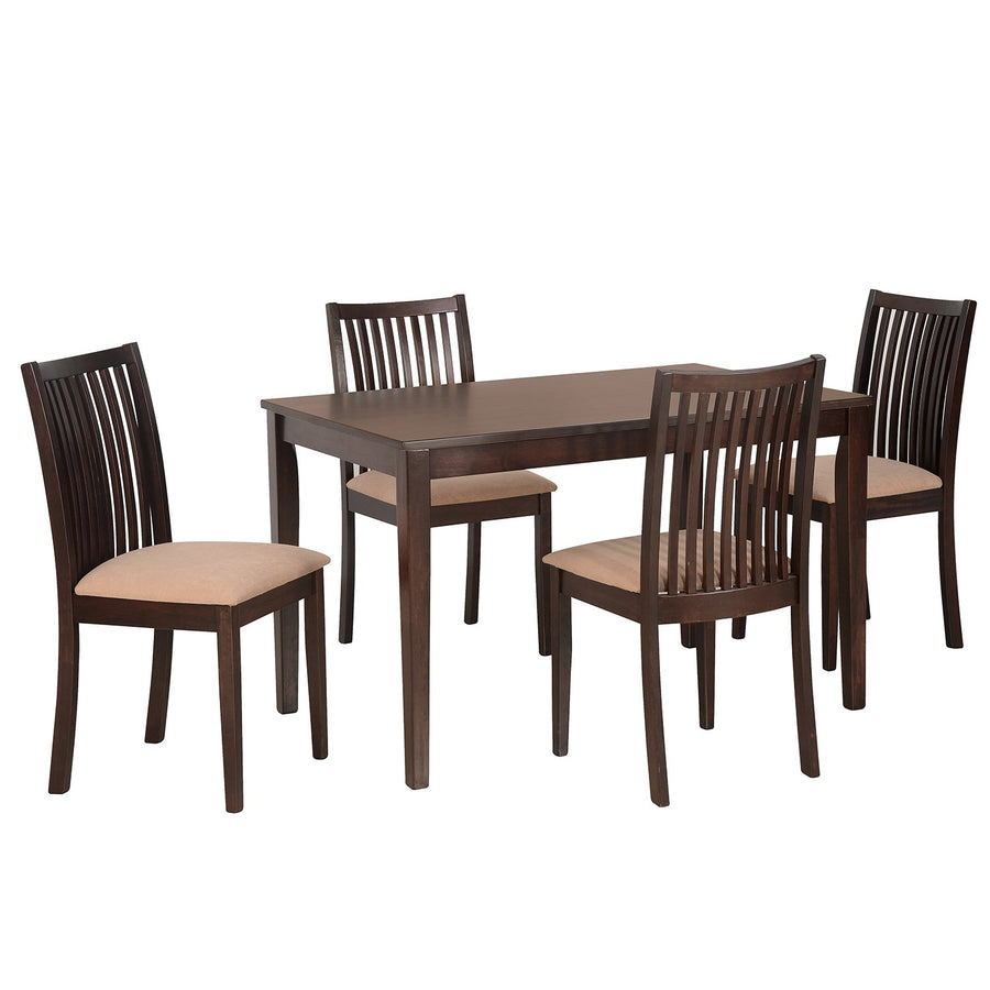 Berry 4 Seater Dining Table Set (Expresso)