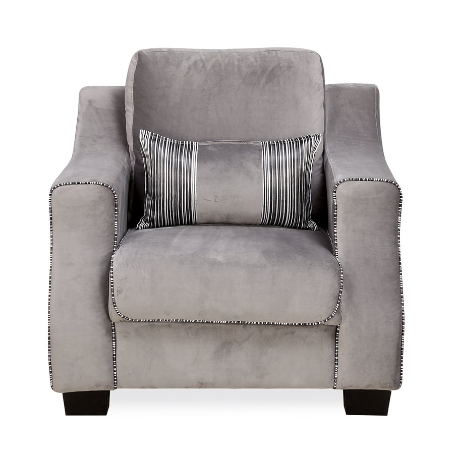 Bliss 1 Seater Sofa (Grey)