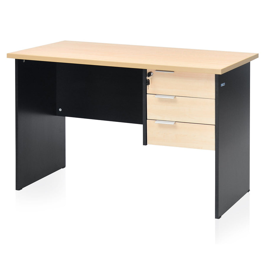 Brilliant Linear Work Station (Maple/Black)