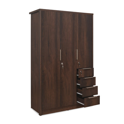 Bryson 3 Door Wardrobe (Walnut)