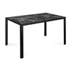 Caleb 6 Seater Dining Table (Black)
