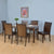 Camilla 6 Seater Dining Set (Dark Walnut)
