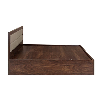 "Captain 75"" x 60"" Queen Bed with Box Storage (Walnut)"