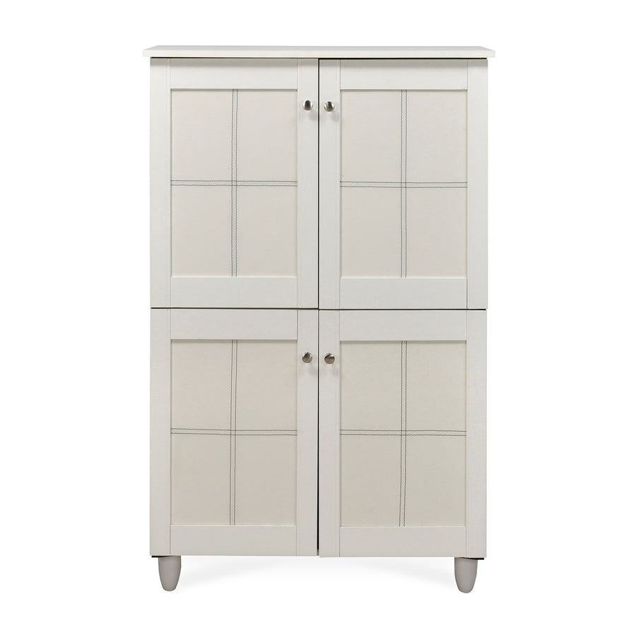 Caren Big Shoe Cabinet (White)