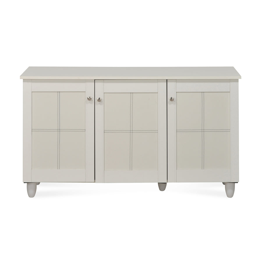Caren Medium Shoe Cabinet (White)