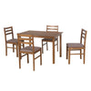 Carlos 4 Seater Dining Set (Walnut)