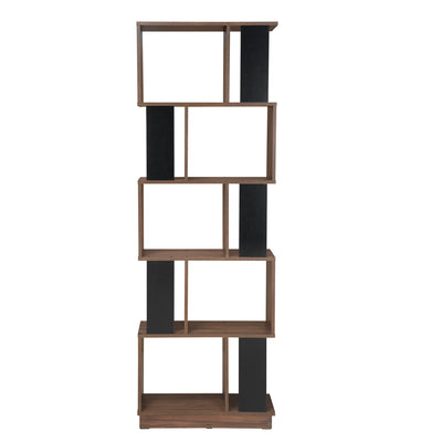 Checkers 5 Tier Book Shelf (Walnut)